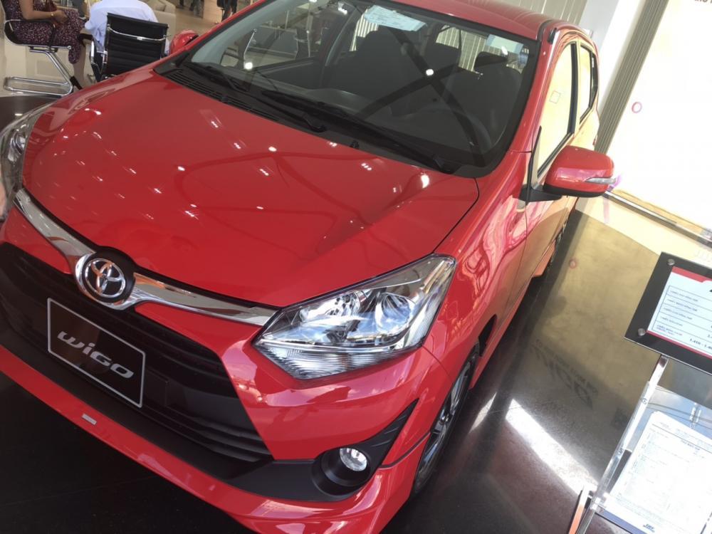 Bán xe Toyota Wigo 1.2AT , màu đỏ, xe nhập, 405 triệu