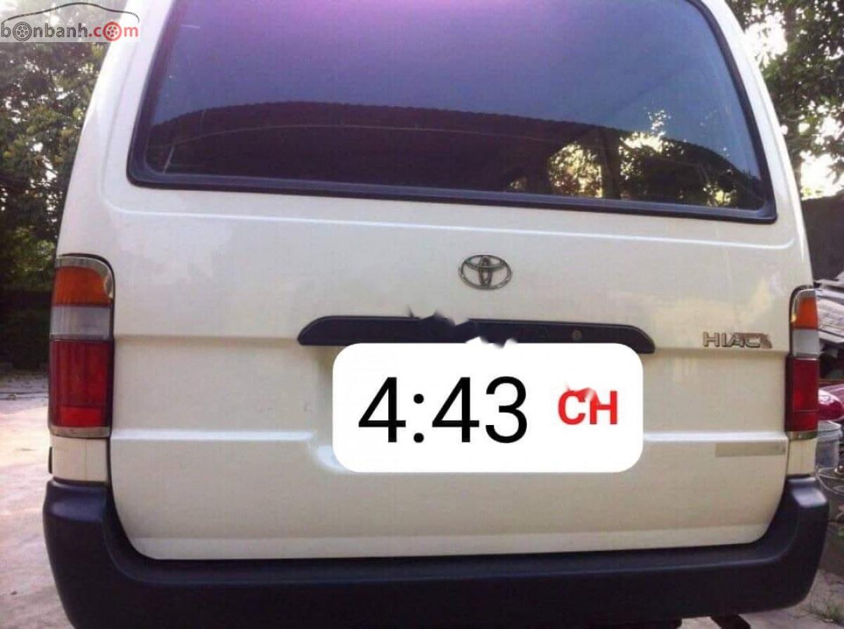 Cần bán Toyota Hiace 2.0 đời 2001, màu trắng, giá tốt