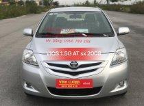 Cần bán xe Toyota Vios 1.5G AT đời 2008, màu bạc giá 360 triệu tại Hà Nội