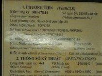 Bán lại xe Toyota Fortuner 2009, xe gia đình, 475tr giá 475 triệu tại Hà Nội