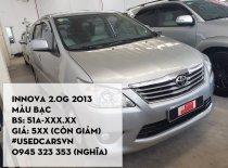 Cần bán xe Toyota Innova G đời 2013, màu bạc, giá chỉ 520 triệu giá 520 triệu tại Tp.HCM